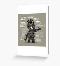 AIRSOFT ANATOMY (white writing) Greeting Card
