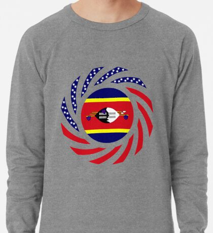Swazi American Multinational Patriot Flag Series Lightweight Sweatshirt