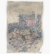Civil War Maps 1717 Surveys of the military defences vicinity of Washington DC Poster