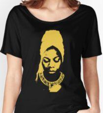 Nina Simone Yellow Women's Relaxed Fit T-Shirt