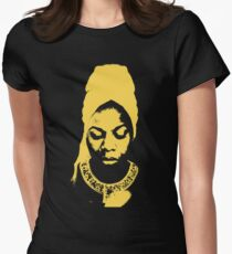 Nina Simone Yellow Women's Fitted T-Shirt