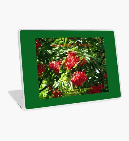 Red Rowan Berries Christmas Card Laptop Folie