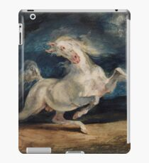 Horse Frightened by Lightning by Eugène Delacroix (1825 - 1829) iPad Case/Skin