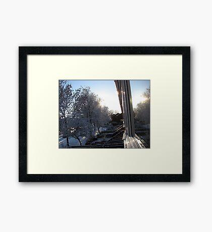 Snow Reflections Sunrise Gerahmter Kunstdruck