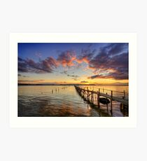 Sandbanks Little Pier ... Art Print