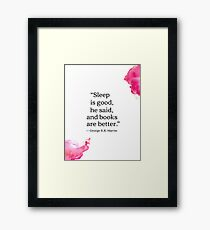 George R.R. Martin quote Framed Print