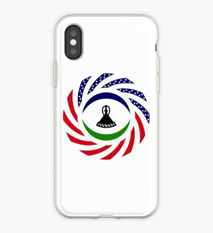 Mosotho American Multinational Patriot Flag Series iPhone Case