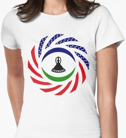 Mosotho American Multinational Patriot Flag Series T-Shirt