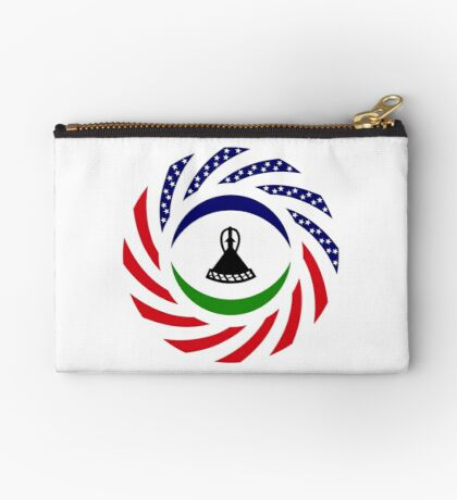 Mosotho American Multinational Patriot Flag Series Zipper Pouch