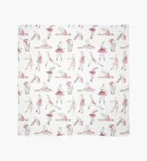 ballerina standing in a pose seamless pattern Scarf