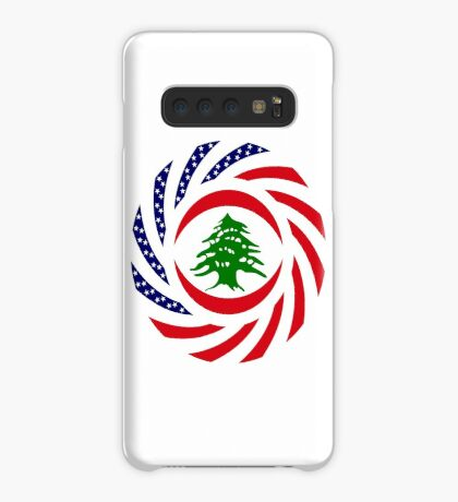 Lebanese American Multinational Patriot Flag Series Case/Skin for Samsung Galaxy