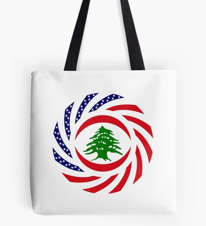 Lebanese American Multinational Patriot Flag Series Tote Bag