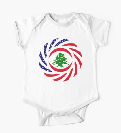 Lebanese American Multinational Patriot Flag Series Kids Clothes