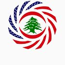 Lebanese American Multinational Patriot Flag Series by Carbon-Fibre Media