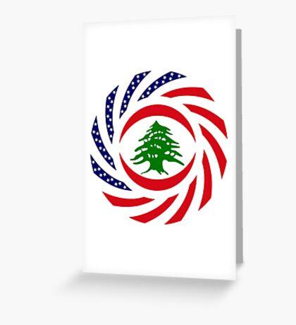 Lebanese American Multinational Patriot Flag Series Greeting Card