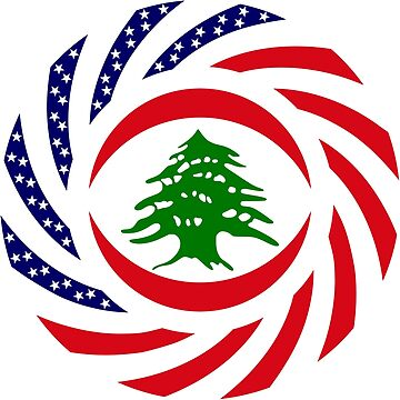 Lebanese American Multinational Patriot Flag Series by carbonfibreme