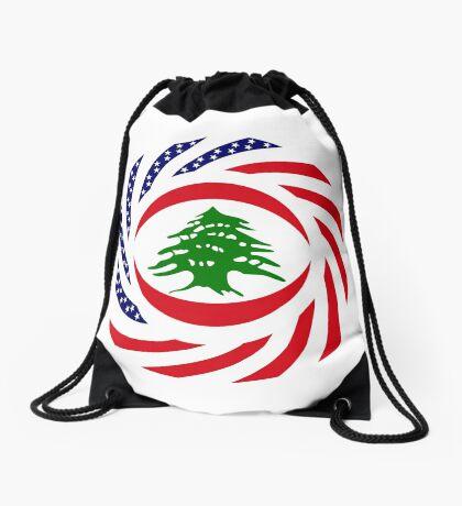 Lebanese American Multinational Patriot Flag Series Drawstring Bag