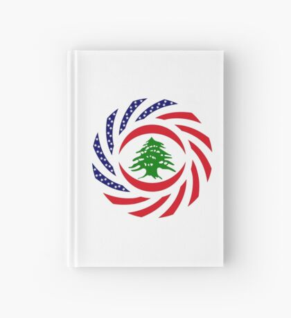 Lebanese American Multinational Patriot Flag Series Hardcover Journal