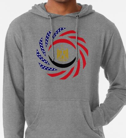 Egyptian American Multinational Patriot Flag Series Lightweight Hoodie