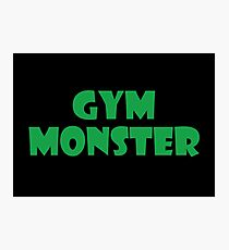 Gym Monster (Green) Photographic Print