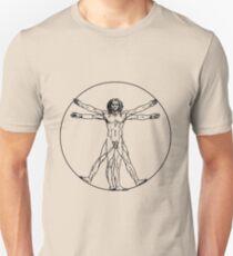 Vitruvian man vector drawing T-Shirt