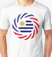 Uruguayan American Multinational Patriot Flag Series Unisex T-Shirt