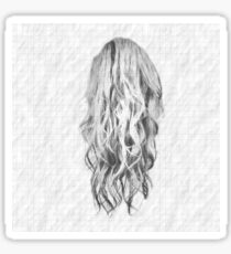 Drawn Hair On Squared Paper Sticker