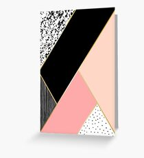 Abstract Geometric Composition Greeting Card