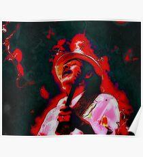 Santana's Explosive Sound Poster
