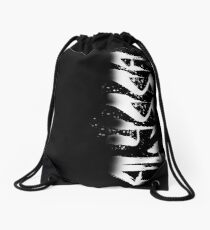 Alyssa Decayed Style Graffiti Tag Drawstring Bag