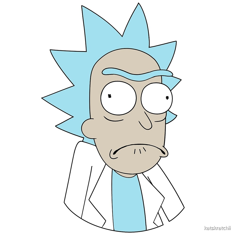 how to draw rick sanchez face