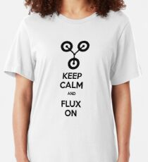 Keep Calm and Flux On Slim Fit T-Shirt