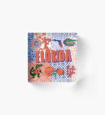 University of Florida Collage Acrylic Block