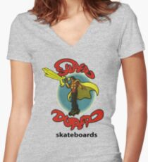 Super Duper Skateboards Women's Fitted V-Neck T-Shirt