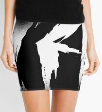Makayla Decayed Style Graffiti Tag Mini Skirt
