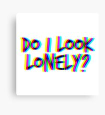 Do I Look Lonely? (White) Canvas Print