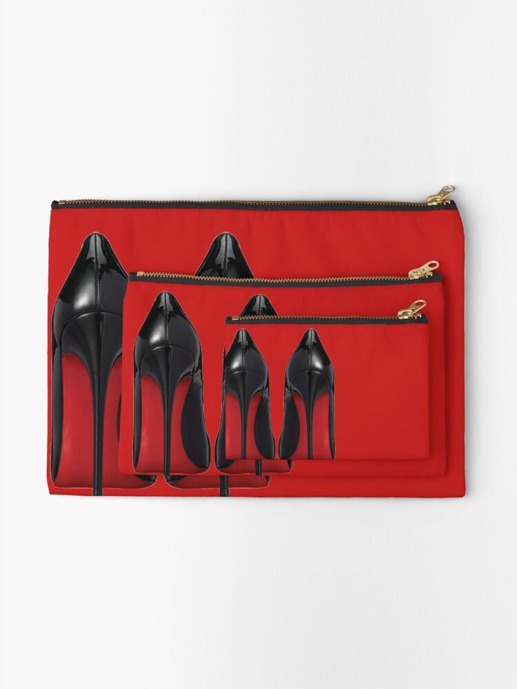 Alternate view of Red Sole Heels - Designer/Fashion/Trendy/Hipster Meme Zipper Pouch