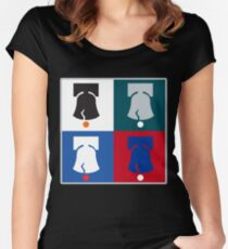 Philly Phour Bells - Liberty Bells for your Favorite Philadelphia Teams! Women's Fitted Scoop T-Shirt