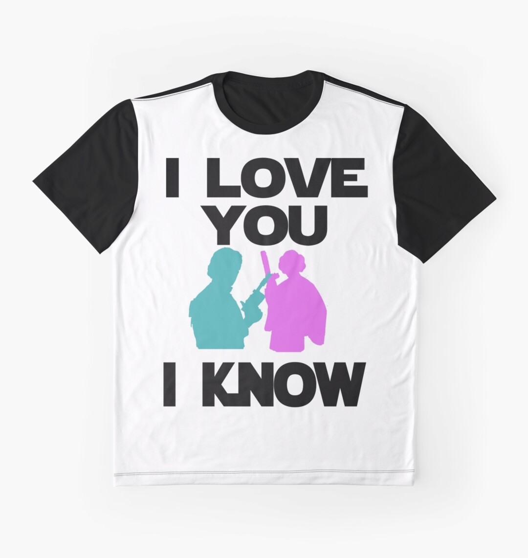 Design t shirt love - Star Wars Han Solo And Princess Leia I Love You I Know Design Graphic T Shirts