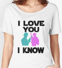 Star Wars Han Solo and Princess Leia 'I love You, I Know' design Women's Relaxed Fit T-Shirt