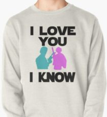 Star Wars Han Solo and Princess Leia 'I love You, I Know' design Pullover