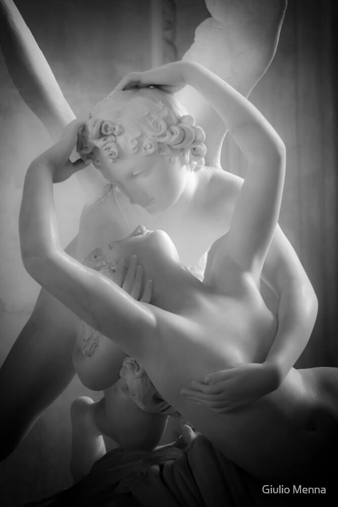 Antonio Canova - Psyche Revived by Cupid's Kiss by Giulio Menna