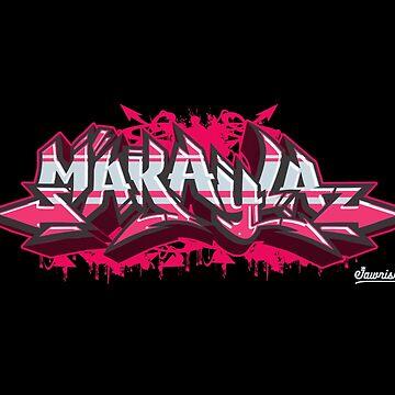 Makayla in Graffiti Burner by Jawnism