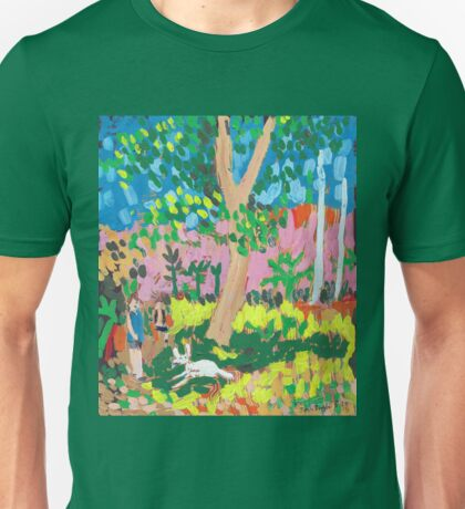 Dog Day in the Park Unisex T-Shirt