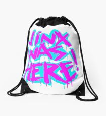 JINX WAS HERE Drawstring Bag