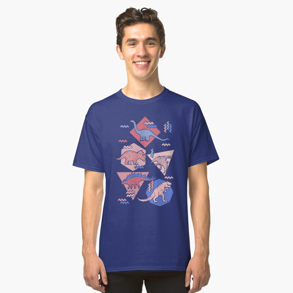 90's Dinosaur Pattern - Rose Quartz and Serenity version Classic T-Shirt