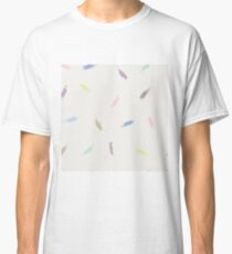 Dry brush hand drawn sketch artsy pattern neutral colours Classic T-Shirt