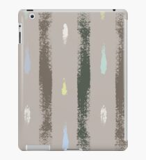 Dry brush hand drawn sketch artsy pattern neutral colours iPad Case/Skin