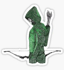 Green Arrow Sticker