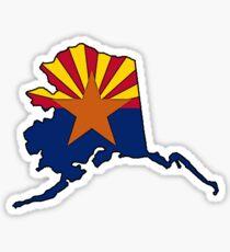 Arizona flag Alaska outline Sticker
